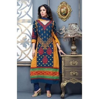 Beautful Blue Salwar Kameez With Embroidery All Around ! Designer Salwar Kameez Online | Nice one | Scoop.it