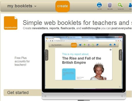 simplebooklet homepage | Educational Technology and New Pedagogies | Scoop.it