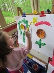 Cupcake flowers on the easel | Teach Preschool | Scoop.it
