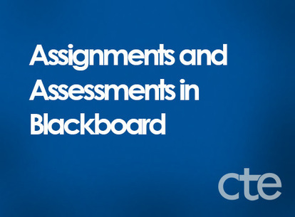 Assignments and Assessments in Blackboard | Blackboard Tips, Tricks and Guides for Higher Education | Scoop.it