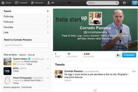 Politica E Social: Passera sbarca su Twitter   Comunicazione Politica e Social Media in Italia   Scoop.it