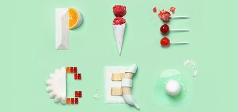 Une typographie créée à partir de sucreries pour un blog food   Gastronomie digitale   Scoop.it