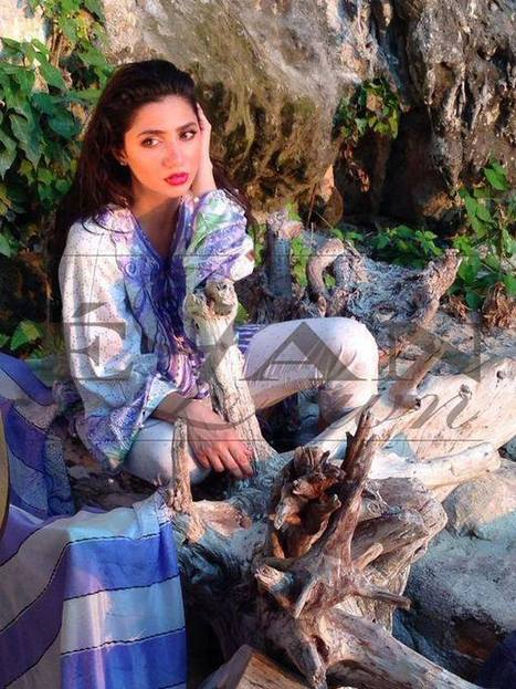 Mahira Khan for Elan Lawn Spring Summer Collection 2014   Zoya Afroz   Scoop.it