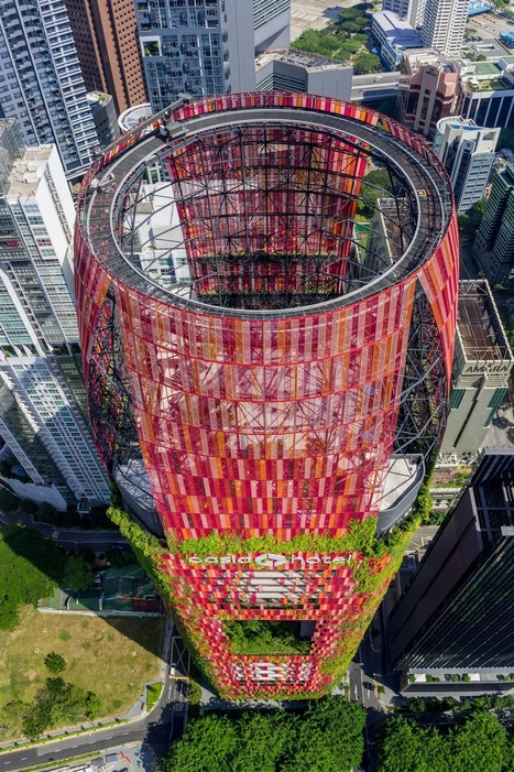 A verdant tower ... : Oasia Hotel Downtown / WOHA | The Architecture of the City | Scoop.it