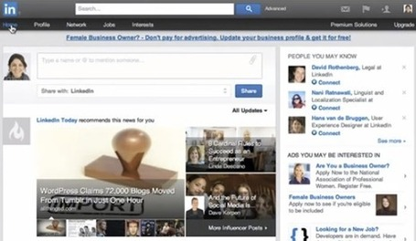 "Introducing a New Way to Navigate Your LinkedIn Experience [VIDEO] | ""#Google+, +1, Facebook, Twitter, Scoop, Foursquare, Empire Avenue, Klout and more"" 