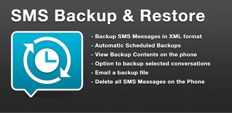 SMS Backup & Restore - Applications Android sur GooglePlay | Android Apps | Scoop.it