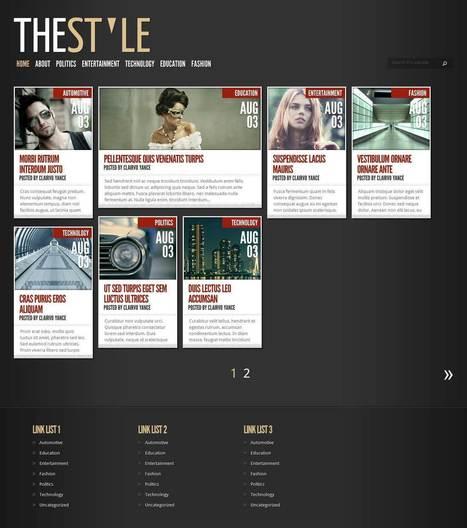 free blogger magazine template style.jpg (1349x1524 pixels) | Web Design Ideas | Scoop.it