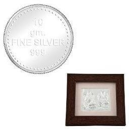 10 gm Silver Coin & Laxmi Ganesha Photo Frame by Marvel Creations | Jewellery | Scoop.it