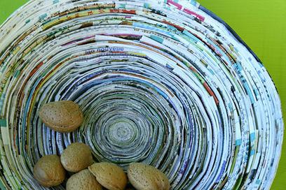 Corbeille en papier enroulé   Club créativité   Scoop.it