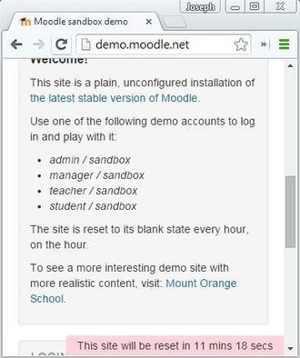 Sandbox Plugin Lets you reset demo and free trial courses automatically | tipsmoodle | Scoop.it
