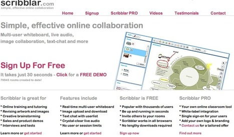 Scribblar - Free Interactive Online Whiteboard | A New Society, a new education! | Scoop.it