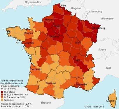 Insee > La région attire plus d'investissements étrangers que ses voisines de l'Ouest   Observer les Pays de la Loire   Scoop.it