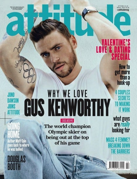 Gus Kenworthy Covers Attitude Magazine, Talks First Gay Kiss | THEHUNKFORM.NET | Scoop.it