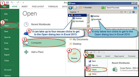 Timesaving File Menu Tricks in Excel 2010/2013 | AccountingWEB | Tips for Managing and Organizing Electronic Documents | Scoop.it