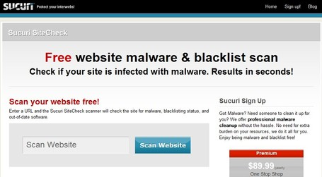Sucuri SiteCheck - Free Website Malware Scans | ICT Security Tools | Scoop.it