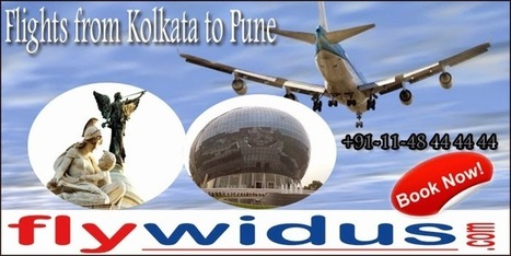 Book Cheap air tickets from Kolkata to Pune and Witness the Marvels of India   Cheap Flight Tickets, Low Airfare Tickets, Cheap Air Ticket Booking - Flywidus   Scoop.it