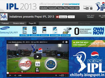 IPL 2013: Live streaming: Watch IPL 6 live matches on Times Internet's Youtube channel ~ ChilloFy | Sony Xperia Z:review | Scoop.it