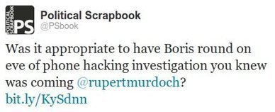 Rupert Murdoch deletes tweet to Scrapbook over Boris Johnson row | Political Scrapbook | DJ.Womble Daily - Magazine | Scoop.it