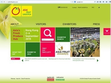 Asia Fruit Logistica unveils new website - FreshPlaza | Agricultural & Horticultural Industry News | Scoop.it