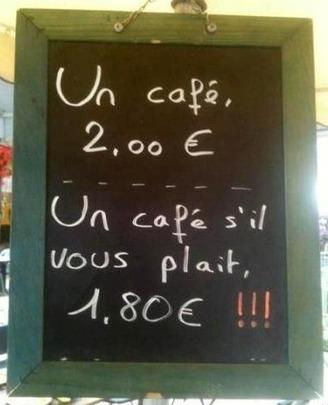 Un café s'il vous plaît ! | le français à table | Scoop.it