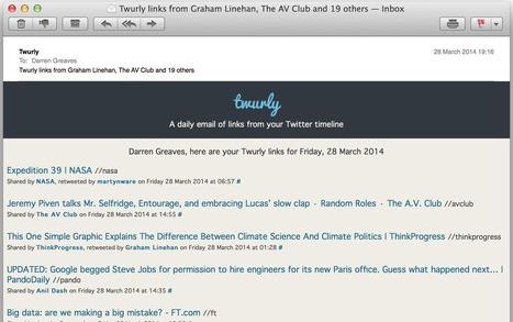 Twurly. Le meilleur de votre fil Twitter par mail | Quatrième lieu | Scoop.it