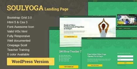 Soulyoga WordPress Landing Page | wp theme | Scoop.it