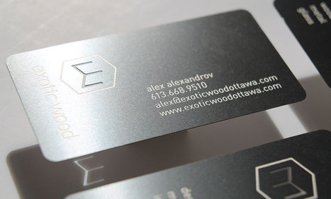 Metal Business Cards Is The First Object Exchanged Between a Companies   Metal Business Card   Scoop.it