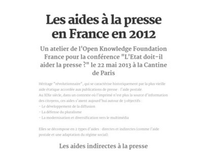 Les aides à la presse en France en 2012 | Formation multimedia | Scoop.it