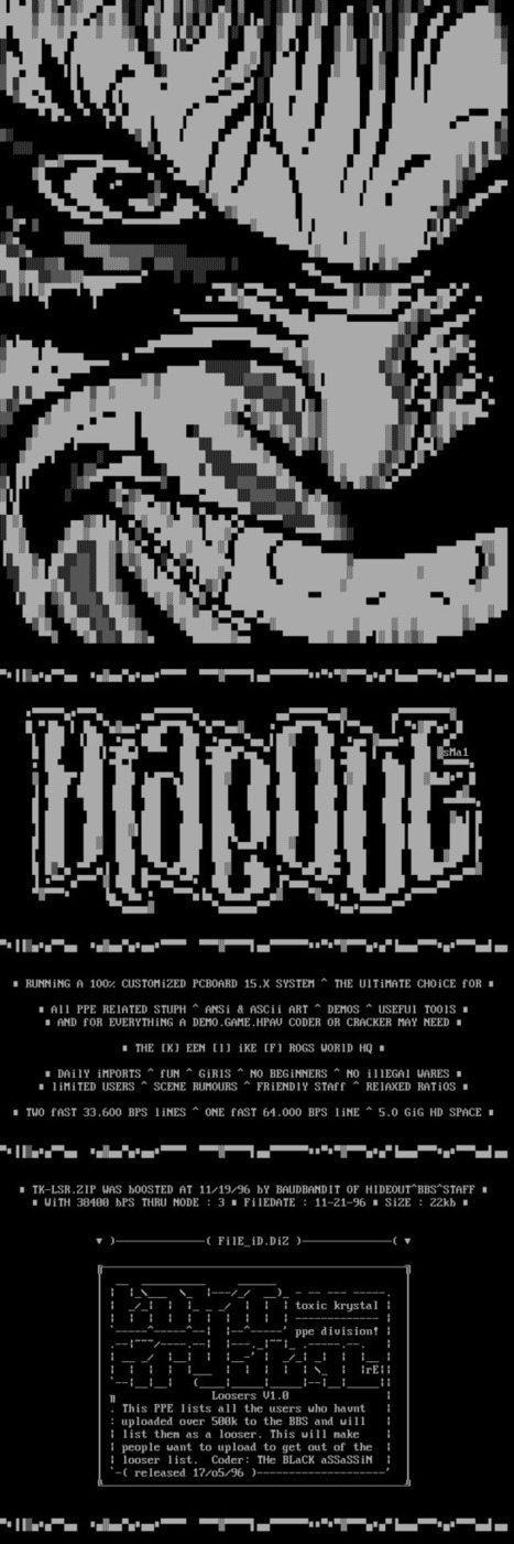HIDEOUT^BBS^ (1996), via. | ASCII Art | Scoop.it
