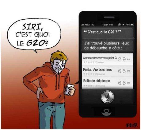 Siri, c'est quoi le G20 ?   Baie d'humour   Scoop.it