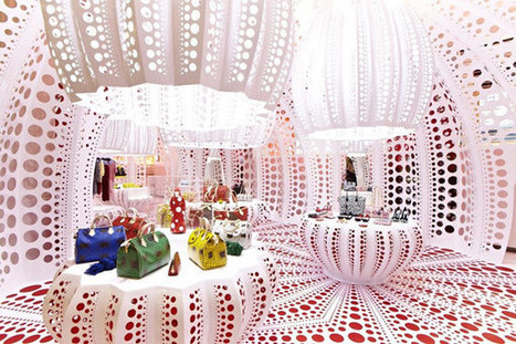 Polka Dot Patterns Defining New Louis Vuitton Concept Store in London   Designing Interiors   Scoop.it