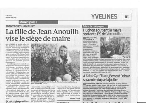 Le Parisien, le 20 mars 2014 : A Saint-Cyr-l'Ecole, Bernard Debain sera entendu pat la justice   Reucyr, liste candidate Centre-Droite républicaine aux élections municipales 2014 de Saint-Cyr-L'Ecole (Yvelines)   Scoop.it