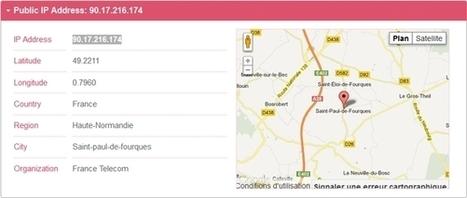 Géolocalisation de votre connexion Internet | Informatique | Scoop.it