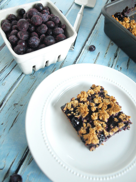 Vegan Blueberry Oat Bars | Happy Healthy Mama | My Vegan recipes | Scoop.it
