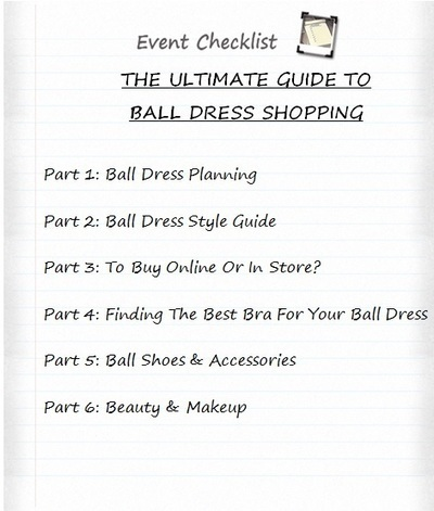 BALL PLANNING AND CHECKLIST | FASHION | Scoop.it