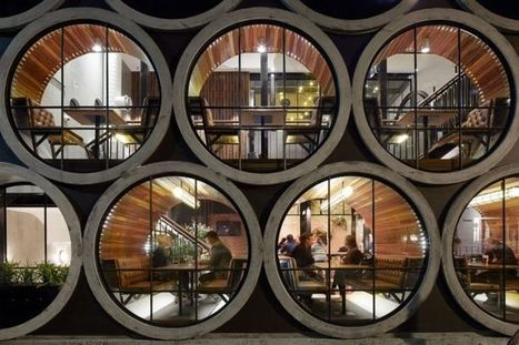 A Unique Hotel Creatively Reimagines Concrete Pipes as Seating | Architecture and Architectural Jobs | Scoop.it