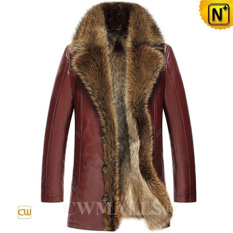 CWMALLS® Mens Fur Lined Leather Jackets CW836059 | Fur Lined Mens Coat | Scoop.it