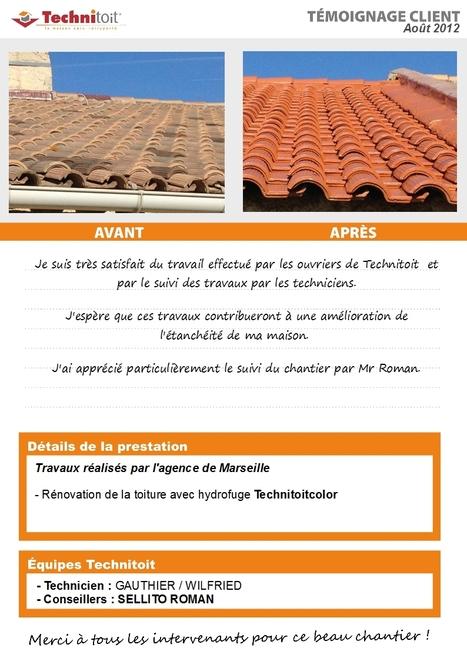 [Témoignage] Rénovation Technitoit toiture tuiles béton à la Penne s/Huveaune (13) | Témoignages Clients Technitoit | Scoop.it