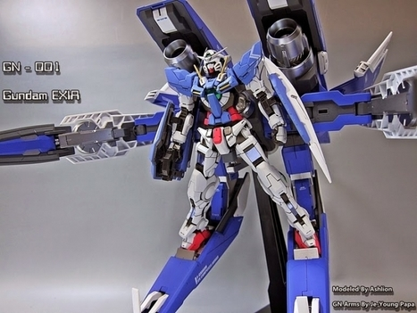 [Modelers-G] RG 1/144 Gundam Exia + GN Arms - Painted Build | E-multiverse | Scoop.it
