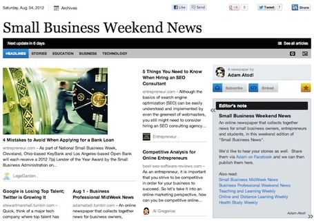 Aug 4 - Small Business Weekend News | Business Futures | Scoop.it