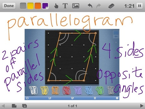App Combo: Educreations and Geoboard | Mon école tactile | Scoop.it
