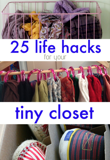 25 Lifehacks For Your Tiny Closet | Interior Decorating Ideas | Scoop.it