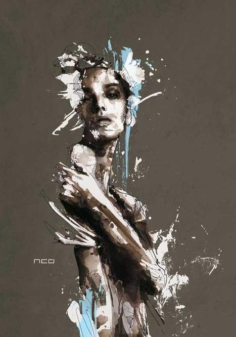Mesmerizing Mixed Media Portraits | Artistes et Créateurs | Scoop.it