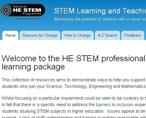 Welcome to the HE STEM professional development e-learning package | STEM Learning and Teaching Reconfigured | Inclusive teaching and learning | Scoop.it