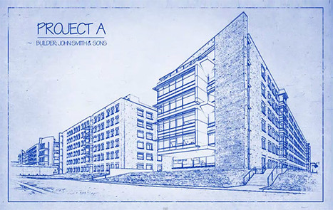 Architect's Blueprint Drawing Effect in Photoshop | Photoshop Photo Effects Journal | Scoop.it