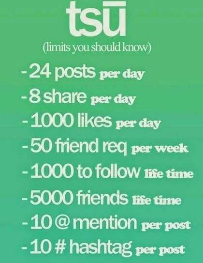 TSU.co Limits you should know. How Many # Hashtags can you use per day? How many friends can you have on Tsu.co? TSU Rules Info-graphic   SEO and Social Media Marketing Tomorrow   Scoop.it
