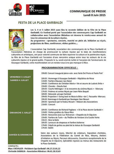 Courtura Nissarda = Julhet 2015 (Culture Niçoise = Juillet 2015) | Nissa e Countea | Scoop.it