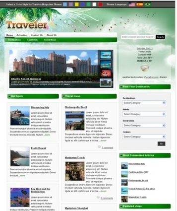 Embellish your travel website with these 10 scintillating WordPress Themes | OSSMedia Ltd | Scoop.it