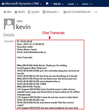 Live Chat Integration with Microsoft Dynamics CRM – Live2Support   Live Chat Software   Scoop.it
