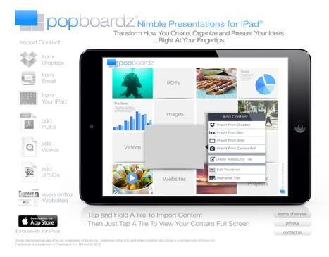 PopBoardz - Nimble Presentations for iPad - currently free (as of Nov. 3/13) | Ubiquitos Learning | Scoop.it